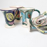 50s Floral Coffee Mugs